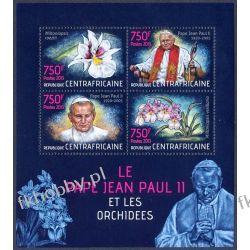 Rep Środkowoafrykańska 2013 ark 4286-89 ** Jan Paweł II Kwiaty Religia i Papież