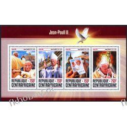 Rep Środkowoafrykańska 2016 ark 4576-79 ** Jan Paweł II Gołąb Religia i Papież