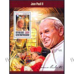 Rep Środkowoafrykańska 2016 BL 1506 ** Jan Paweł II Religia i Papież