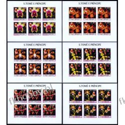 Wyspy Św Tomasza 2003 ark 2037-42 B ** Jan Paweł II Papież Religia i Papież