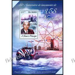 Wyspy Św Tomasza 2014 BL 963 ** Łódż Podwodna Kolekcje