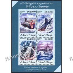 Wyspy Św Tomasza 2014 ark 5519-22 ** Łódż Podwodna Kolekcje