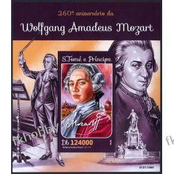 Wyspy Św Tomasza 2016 BL 1153 ** Mozart Muzyka Filatelistyka