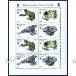 Haiti 1999 Mi ark 1588-91 ** WWF Zwierzęta Żaba Filatelistyka