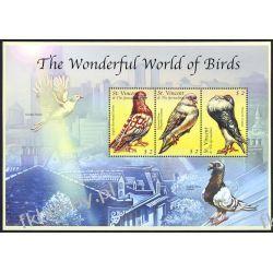 Saint Vincent Gre 2000 ark 5063-65 ** Ptaki Gołąb Filatelistyka