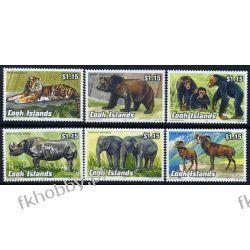 Wyspy Cooka 1992 Mi 1341-46 ** Tygrys Słoń Małpa Niedżwiedż Ssaki