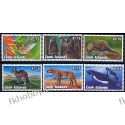 Wyspy Cooka 1992 Mi 1348-53 ** Sowa Koliber Delfin Kangur Ssaki