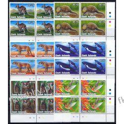 Wyspy Cooka 1992 Mi 1348-53 x4 ** Sowa Koliber Delfin Kangur Ssaki