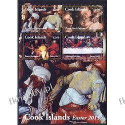 Wyspy Cooka 2015 Mi BL 251 ** Malarstwo Religia Jezus Kolekcje