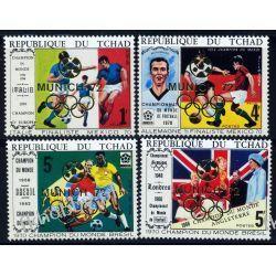 Czad 1972 Mi 565-68 ** Olimpiada Piłka Nożna Kolekcje