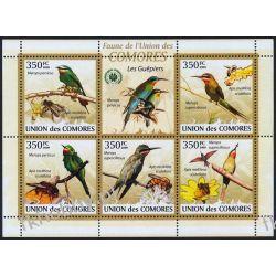 Komory 2009 Mi ark 2352-56 ** Ptaki Ptak Fauna