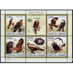 Komory 2009 Mi ark 2382-86 ** Ptaki Ptak Fauna