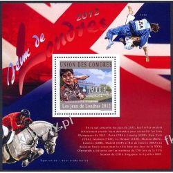 Komory 2010 Mi BL 609 ** Olimpiada Londyn Koń