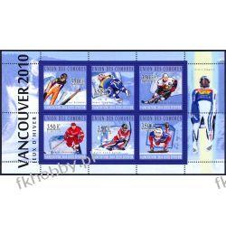 Komory 2010 Mi ark 2894-99 ** Olimpiada Vancouver