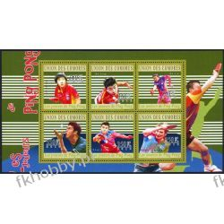 Komory 2010 Mi ark 2810-15 ** Tenis Stołowy