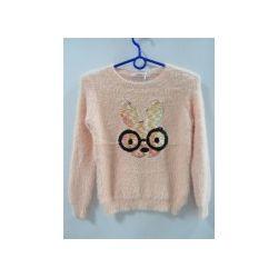 Sweterek dziewczęcy z motywem z cekinów