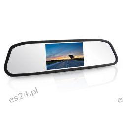 "Monitor ekran w lusterku LCD 4,3"" PL kamera cofania lusterko Konsole"