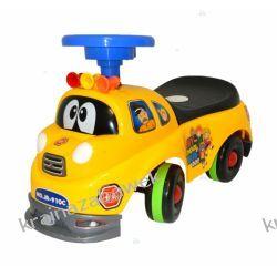 Pojazd, odpycha z, zabawka WÓZ STRAŻACKI ŻÓŁTY