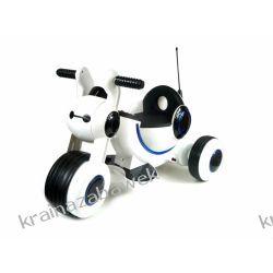 Trójkołowy jeździk na akumulator dźwięk, światła biały