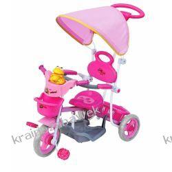 Rowerek trójkołowy różowy żabka