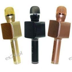 Mikrofon KARAOKE LED BLUETOOTH Bezprzewodowy Usb , Sd