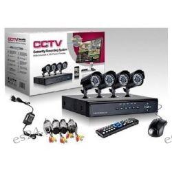 4 x Kamery H.264 IP Cyfrowy Rejestrator Wideo DVR CCTV 4