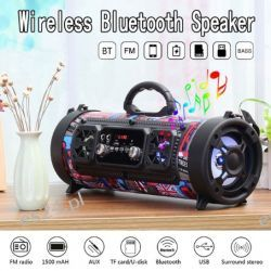 Głośnik Bluetooth MP3 Radio FM SD USB AUX BOOMBOX