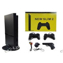 Gra TV Konsola Telewizyjna SLIM 2+GRY + Pistolet Gry