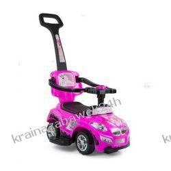 Jeździk Pojazd Happy 3 W 1 Różowy Rowery i pojazdy