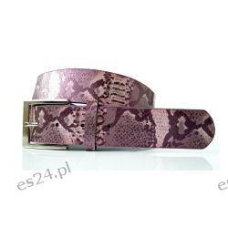 Pasek ANIMAL WĄŻ 106 cm - fioletowy Okulary przeciwsłoneczne