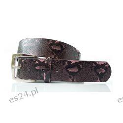 Pasek ANIMAL WĄŻ 106 cm - ciemny fioletowy Szelki