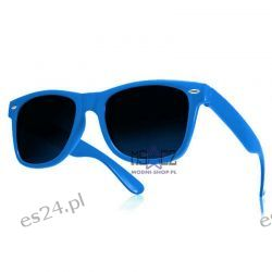 Okulary WAYFARER nerdy kujonki - niebieskie Odzież, Obuwie, Dodatki