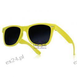 Okulary WAYFARER nerdy kujonki - żółte