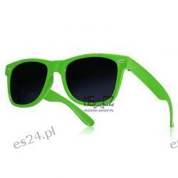 Okulary WAYFARER nerdy kujonki - zielone Odzież, Obuwie, Dodatki