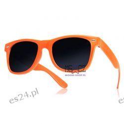 Okulary WAYFARER nerdy kujonki - pomarańczowe Odzież, Obuwie, Dodatki