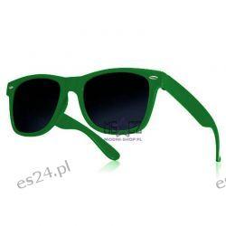 Okulary WAYFARER nerdy kujonki - ciemnozielone