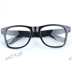 Okulary ZERÓWKI WAYFARER nerdy kujonki - czarne Odzież, Obuwie, Dodatki