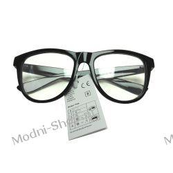 Okulary ZERÓWKI WAYFARER nerdy kujonki - czarne
