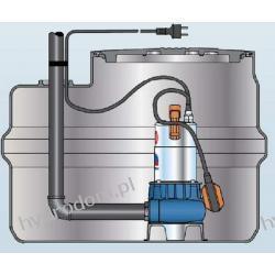Przepompownia SAR 100 przepompownia z pompą ZXm1A-40 PEDROLLO Pompy i hydrofory