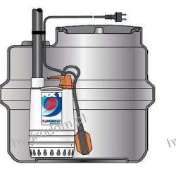 Przepompownia SAR 100 z pompą RXm 3 do odwodnień liniowych i wód deszczowych PEDROLLO Szamba i oczyszczalnie