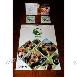 Zestaw kalendarzy + naklejka