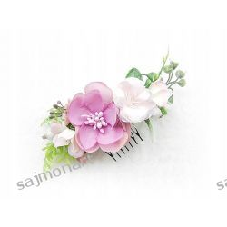 KWIATOWY GRZEBYK do włosów róże stroik sesja
