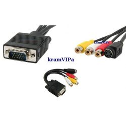 Adapter VGA na S-Video 3RCA AV PROMOCJA