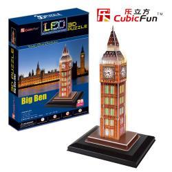 Puzzle 3D BIG BEN Cubic Fun podświetlane