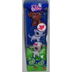 Littlest Pet Shop 3 figurki w tubie z owieczką