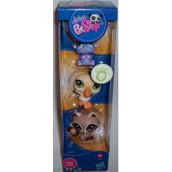 Littlest Pet Shop 3 figurki w tubie z szopem