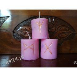 Szamańskie świece intencyjne / różowa /  Pozostałe
