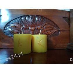 Szamańskie świece intencyjne / żółta /  Dekoracje i ozdoby