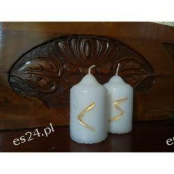 Szamańskie świece intencyjne / biała /  Dekoracje i ozdoby