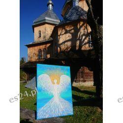 Obraz Energetyczny Anioł Wolności 25/35cm Rękodzieło